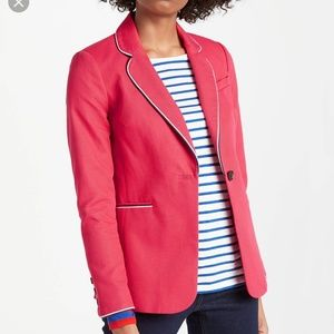 Boden Lilah cotton blazer in hibiscus NWOT